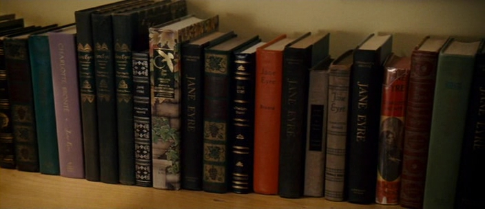 Collection of Jane Eyre books from the movie Definitely Maybe
